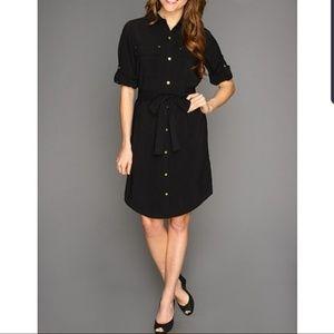 NWT Calvin Klein Black Button Down Dress